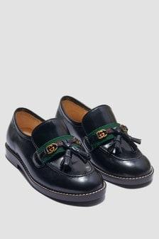 GUCCI Kids Boys Black Loafers