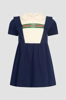 GUCCI Kids Baby Girls Navy Dress
