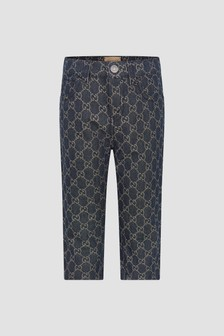 GUCCI Kids Baby Navy Jeans