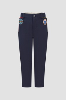 GUCCI Kids Boys Navy Trousers