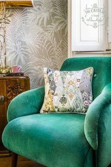 The Chateau by Angel Strawbridge Cream Nouveau Wallpaper Cushion