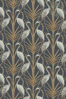 The Chateau by Angel Strawbridge Blue Nouveau Heron Wallpaper