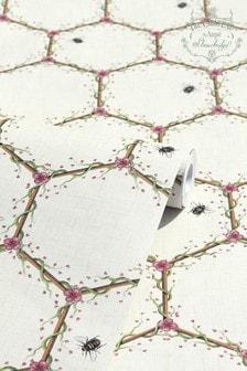The Chateau by Angel Strawbridge Cream Honeycomb Wallpaper