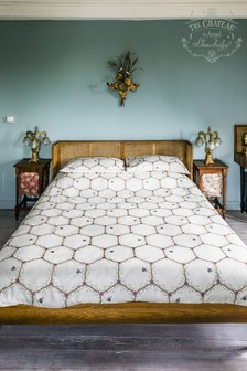 The Chateau by Angel Strawbridge Cream Honeycomb Duvet Cover and Pillowcase Set