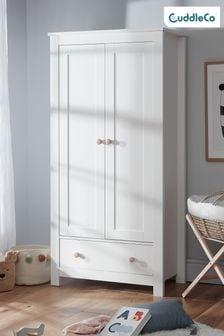 Aylesbury Nursery Wardrobe In White & Ash By Cuddleco