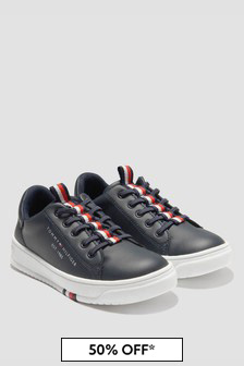 Tommy Hilfiger Boys Navy Trainers