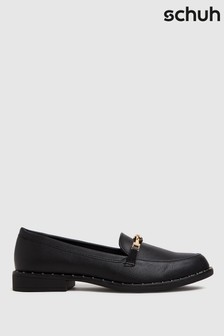 Schuh Black Lacey Snaffle Loafers