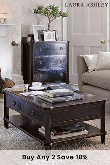 Henshaw Black 2 Drawer Coffee Table by Laura Ashley