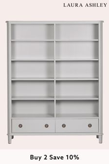 Henshaw Pale Steel 2 Drawer Double Bookcase By Laura Ashley
