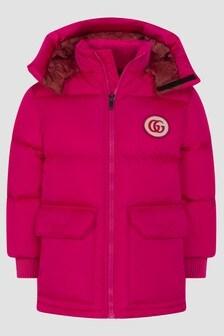 GUCCI Kids Girls Fuchsia Jacket