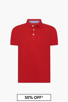 Tommy Hilfiger Boys Red Polo Shirt