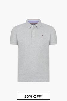 Tommy Hilfiger Boys Grey Polo Shirt