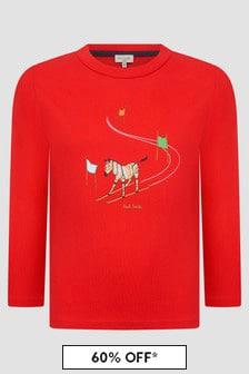 Paul Smith Junior Boys Red T-Shirt