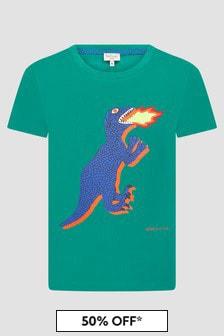 Paul Smith Junior Boys Green T-Shirt