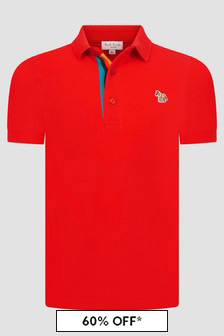 Paul Smith Junior Boys Red Polo Shirt