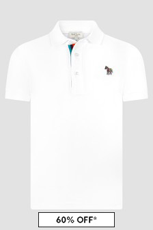 Paul Smith Junior Boys White Polo Shirt