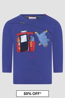 Paul Smith Junior Baby Boys Blue T-Shirt