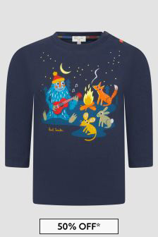 Paul Smith Junior Baby Boys Navy T-Shirt