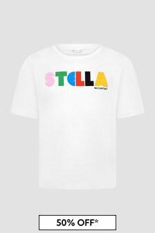 Stella McCartney Kids Girls White T-Shirt