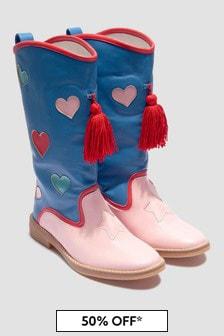 Stella McCartney Kids Girls Blue Boots