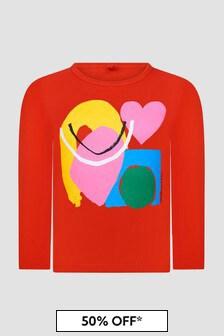 Stella McCartney Kids Girls Red T-Shirt