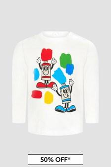 Stella McCartney Kids Baby Cream T-Shirt