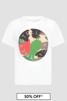 Stella McCartney Kids Boys White T-Shirt