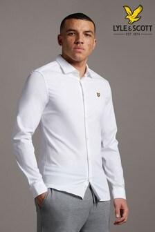 Lyle & Scott White Slim Fit Poplin Shirt