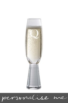 Personalised Initals Flute Glass