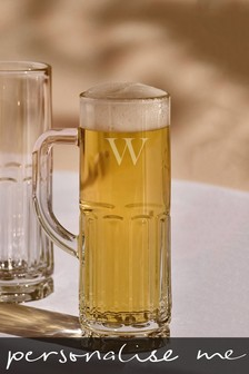 Personalised Initials Beer Glass