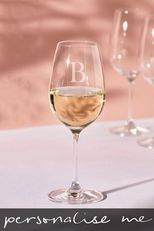 Personalised Initial Wine Glass