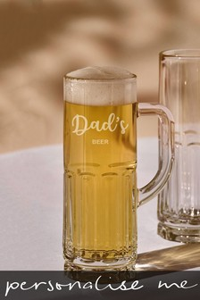 Personalised Dads Beer Glass