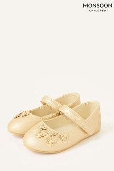 Monsoon Gold Butterfly Walker Shoes