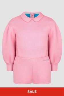 Simonetta Girls Pink Jumpsuit