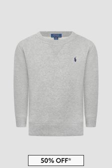Ralph Lauren Kids Boys Cotton Crew Neck Sweater