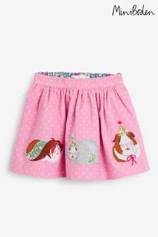 Boden Pink Cord Appliqué Skirt