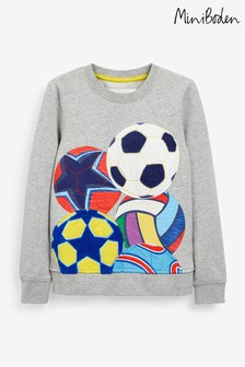 Boden Grey Appliqué Ball Sweatshirt