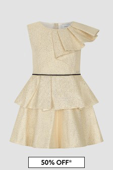 Jessie And James Girls Gold New Eve Dress