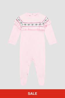 Chiara Ferragni Baby Girls Pink Sleepsuit