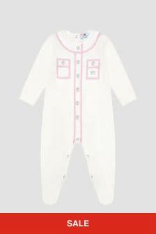 Chiara Ferragni Baby Girls White Sleepsuit