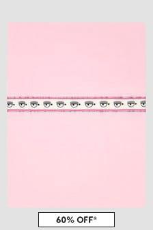 Chiara Ferragni Baby Girls Pink Blanket