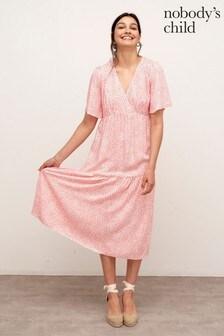 Nobody's Child Pink Clementine Midi Dress