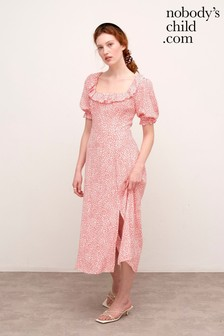 Nobody's Child Pink Keira Split Hem Midi Dress