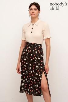 Nobody's Child Black Maddie Midi Skirt