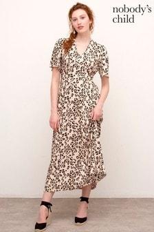 Nobody's Child Camel Teresa Midi Dress
