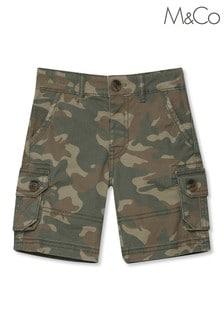 M&Co Green Camo Cargo Shorts