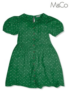 M&Co Green Ditsy Floral Dress