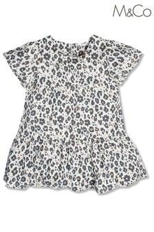 M&Co Animal Print Tiered Dress