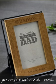 Personalised Me And Daddy Frame
