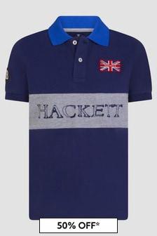 Hackett London Kids Boys Navy Polo Shirt